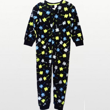 Paul Frank - Boys  Fleece Onesie Footless - Julius