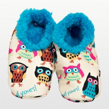 Lazyone - I'm Owl Yours Fuzzy Feet Slippers - Adult