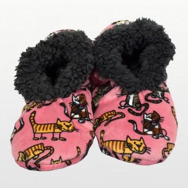 Lazyone - Cat Nap Fuzzy Feet Slippers