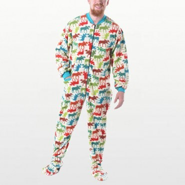 Lazy One - Adult Classic Moose Fleece Onesie with Dropseat