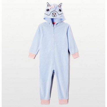 St Eve -  Cat Hooded Footless Girls Onesie
