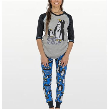 LazyOne - Womens Out Cold Penguin Leggings Pyjama Set
