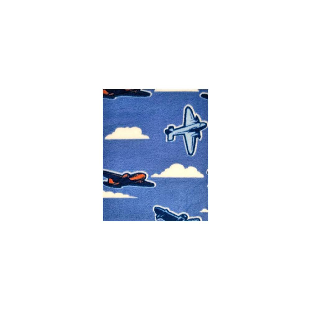 Adult - Fleece Onesie - Planes Print with Drop Seat