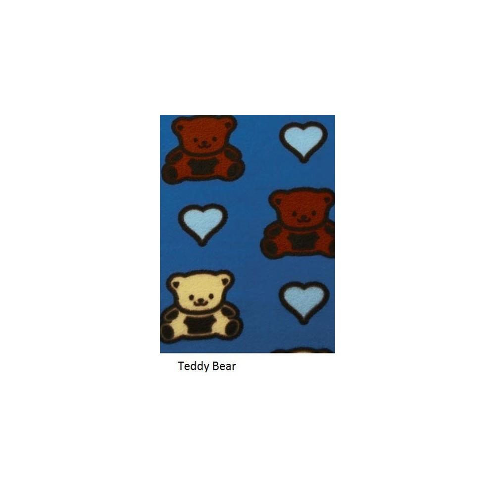 Adult - Fleece Onesie - Teddy Bears Print with Drop Seat