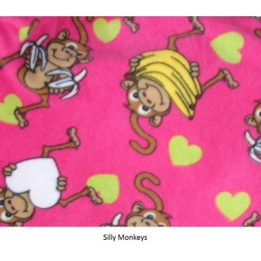 Fleece Footed Pyjamas Onesie - Silly Monkey
