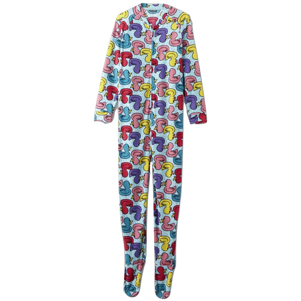 Fleece Footed Pyjamas Onesie - Multcolored Ducks