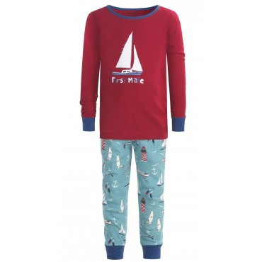 Hatley Kids - Boys Wild and Cozy First Mate Pj's