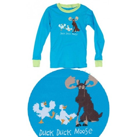 LazyOne - Blue Duck Duck Moose Pyjamas