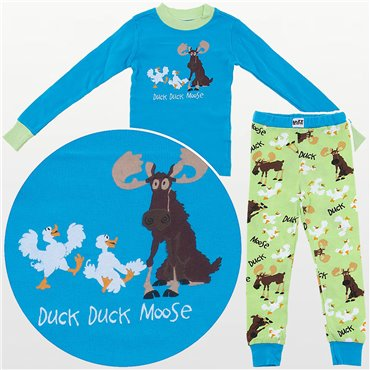 LazyOne - Blue Duck Duck Moose Pyjamas