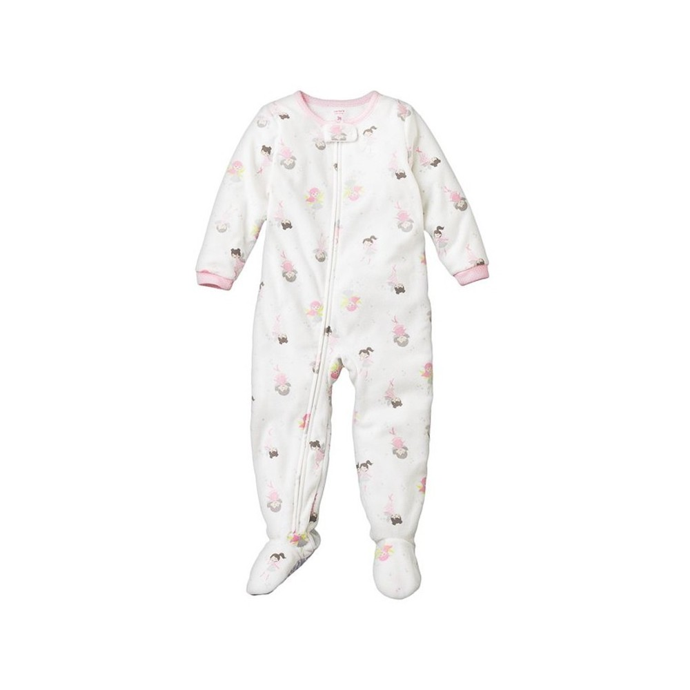 Carters - Girls Fairy Microfleece Onesie Pyjamas