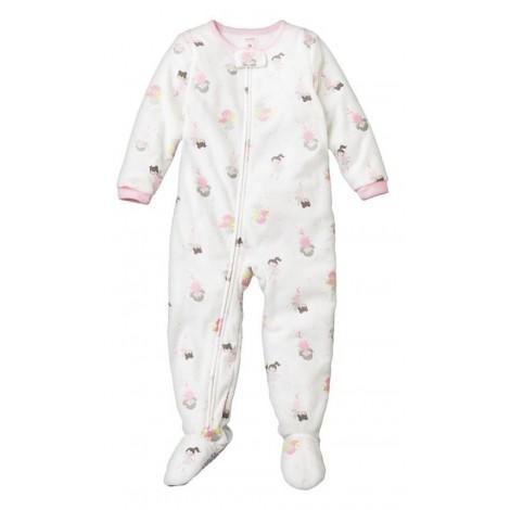Carters - Girls Fairy Microfleece Onesie Pyjamas