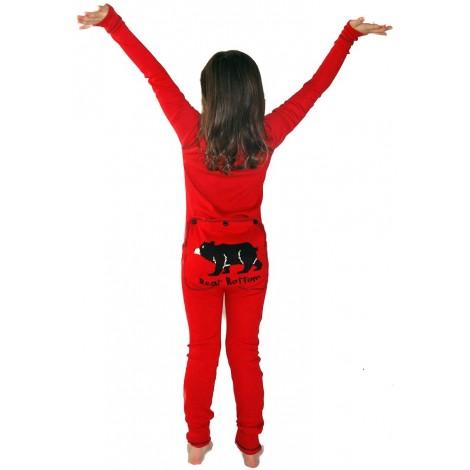 Children's - Red Bear Bottom Onesie Cotton Pj's