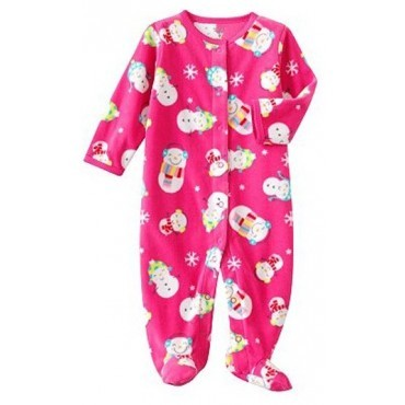 Carter's - Girls Snowman Microfleece Sleep & Play - Baby