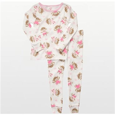 Carter's - Girls 2 piece Cotton Pyjamas - Monkey Ballerina