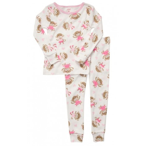 Carter's - 2 piece Cotton Pyjamas - Monkey Ballerina