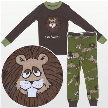 LazyOne - Lion Around 100% Cotton Pyjamas