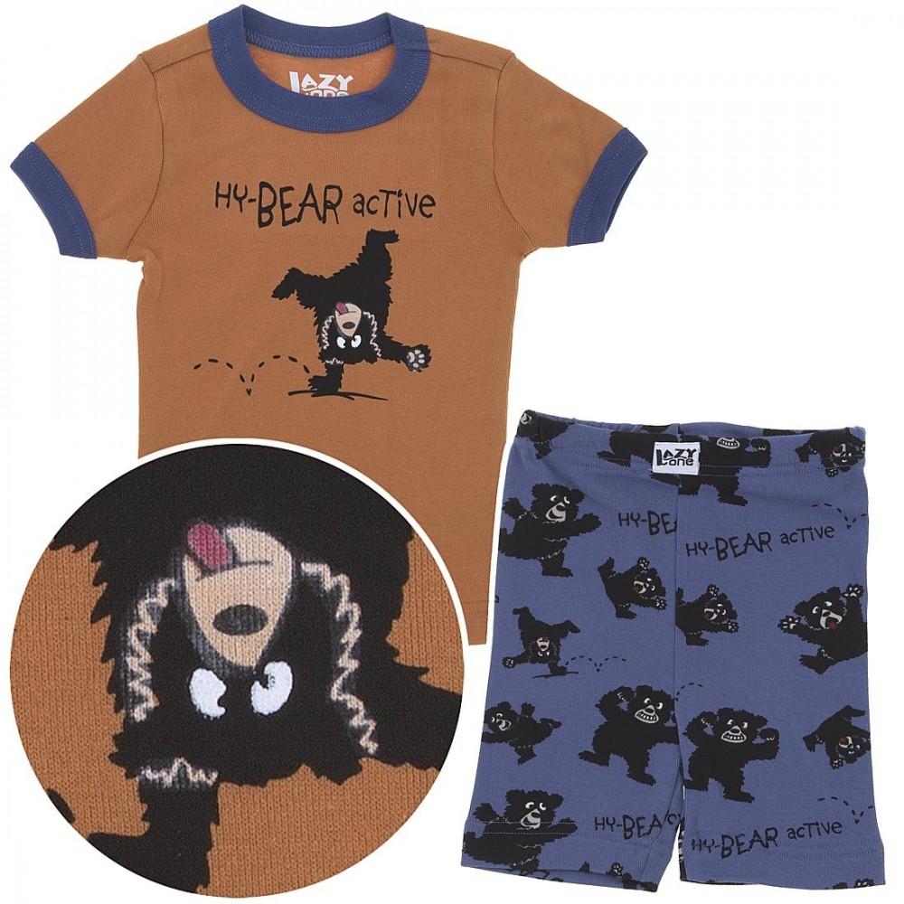LazyOne -  Hy-Bear Active Kids PJ Set