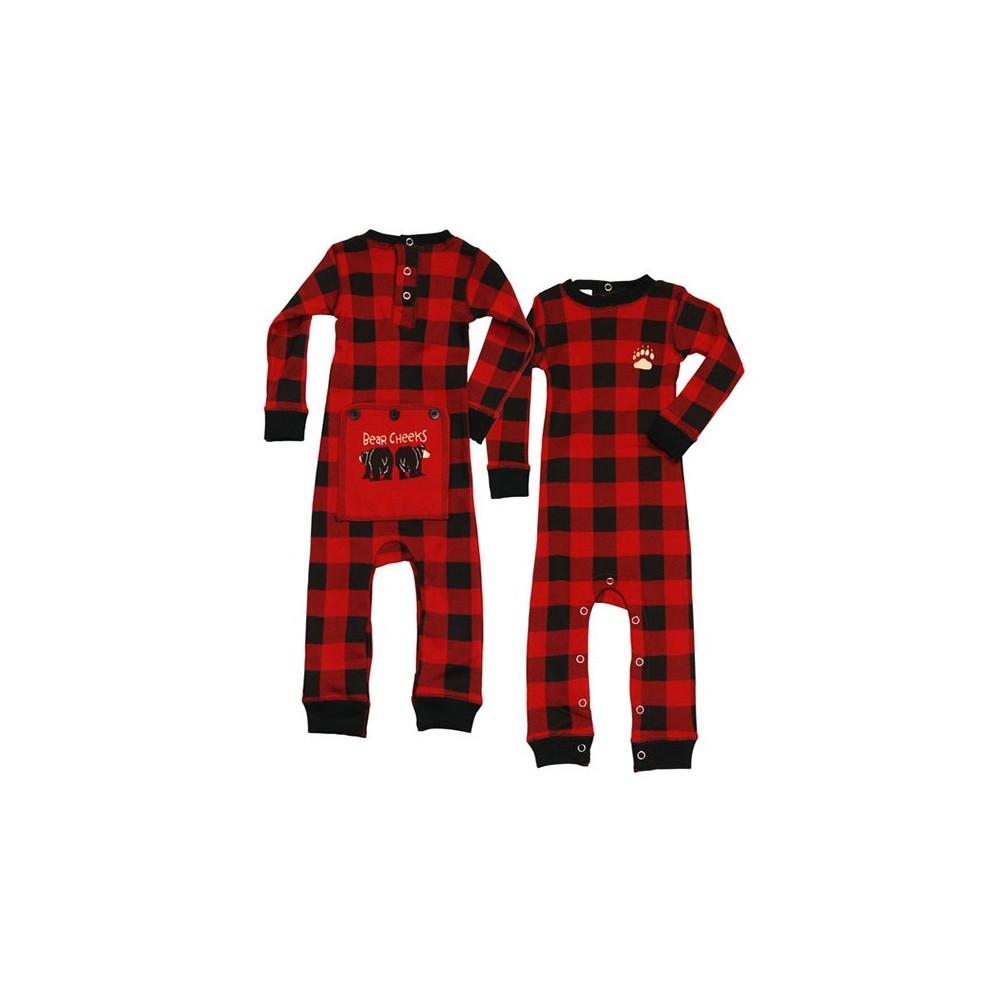 Babies - Check Bear Cheeks Onesie Cotton Pj's