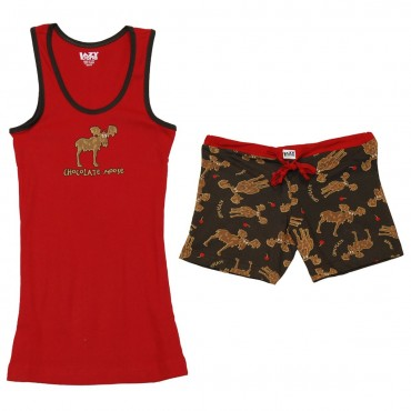Lazy One - Teenager's Chocolate Moose Pj Set
