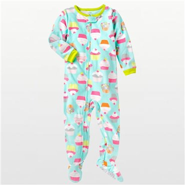 Carters - Girls Cupcakes Microfleece Onesie Pyjamas