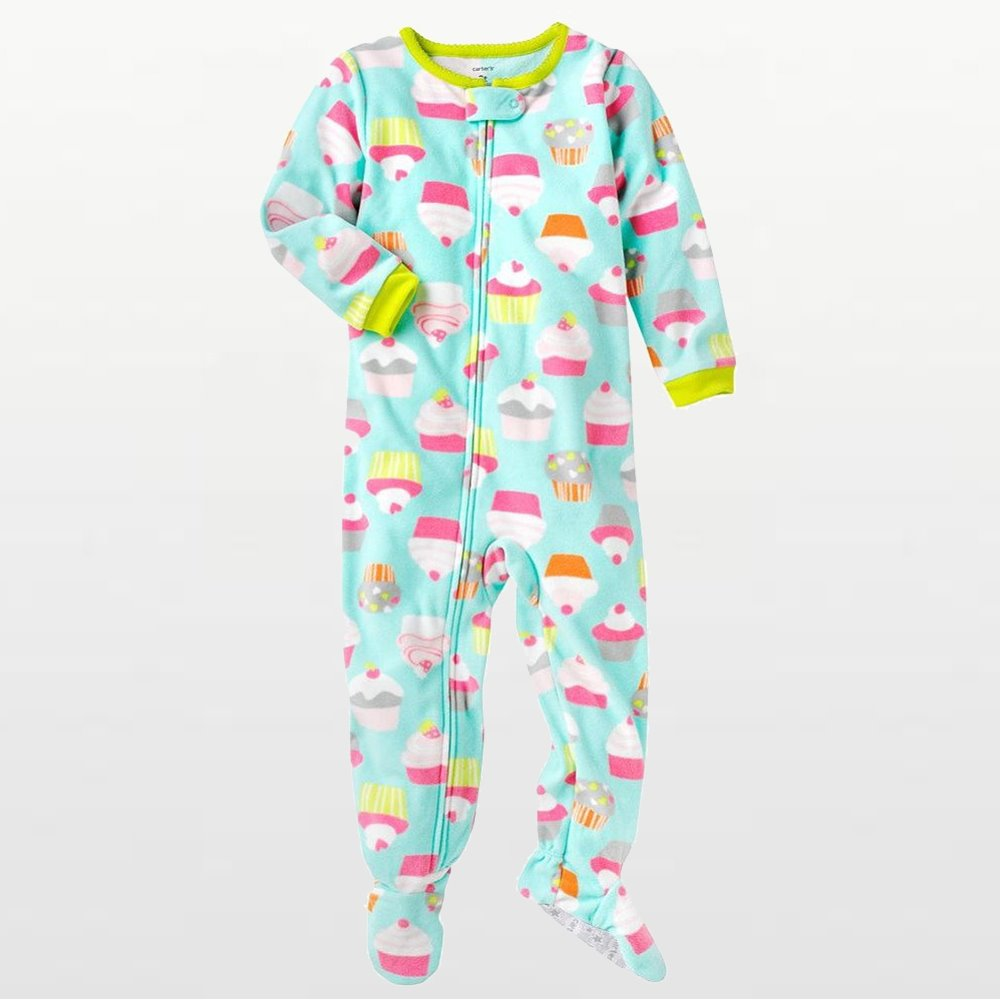 Carters - Girls Cupcakes Microfleece Onesie Pyjamas