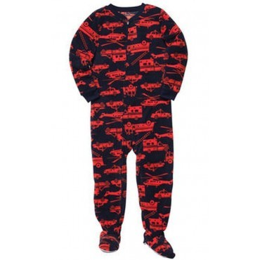 Carters - Boys  Fire Trucks Microfleece Onesie Pyjamas