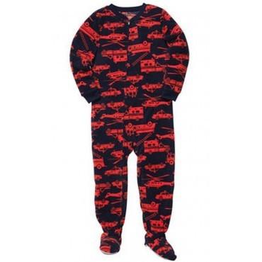 Carters - Boys  Fire Trucks Microfleece Onesie Pyjamas