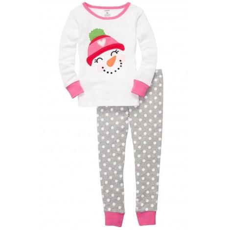 Carter's - Girls 2 piece Cotton Pyjamas - Snowman