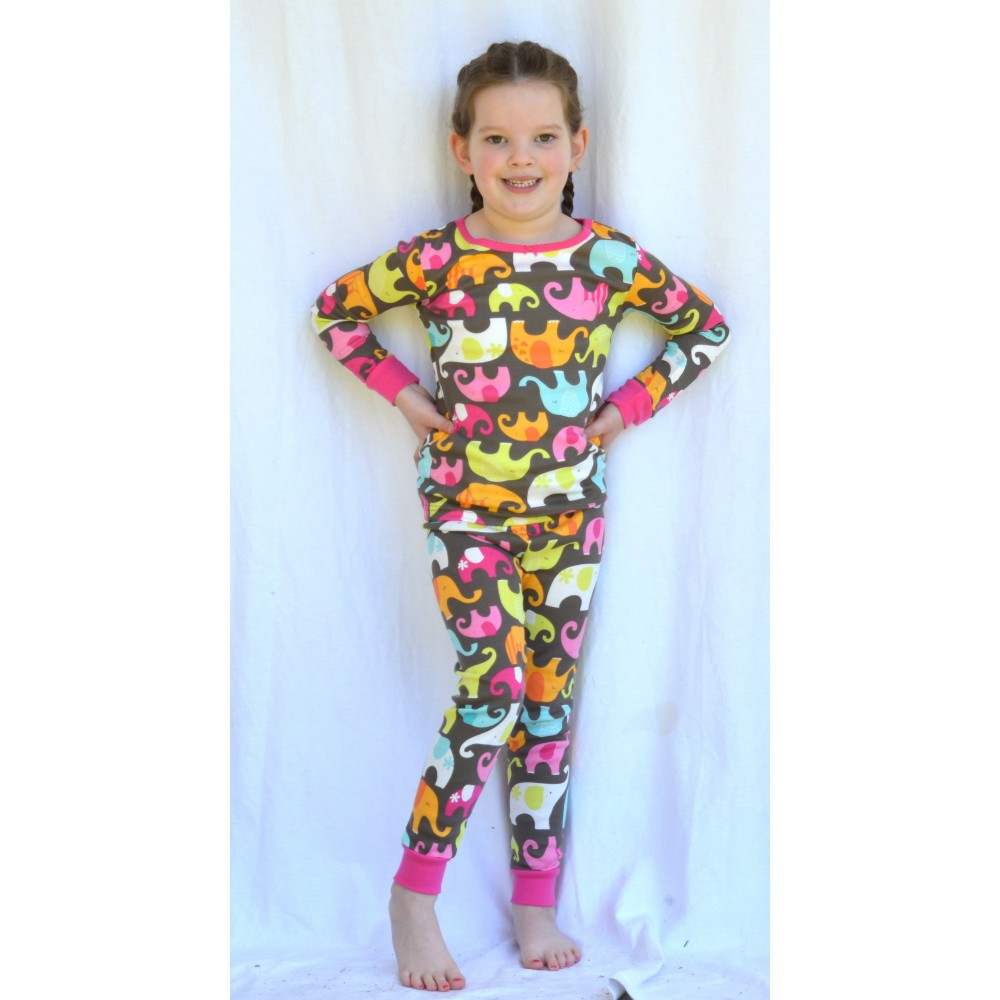 Carter's - Girls 2 piece Cotton Pyjamas - Elephants