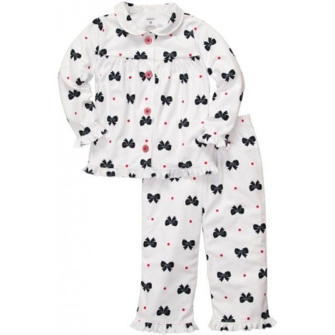 Carter's - Girls 2 piece Cotton Pyjamas - Bows