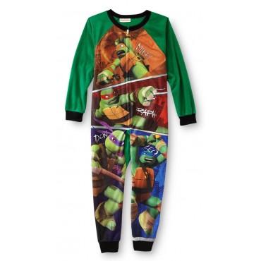 Boys -  Teenage Mutant Ninja Turtles Fleece Footless Onesie