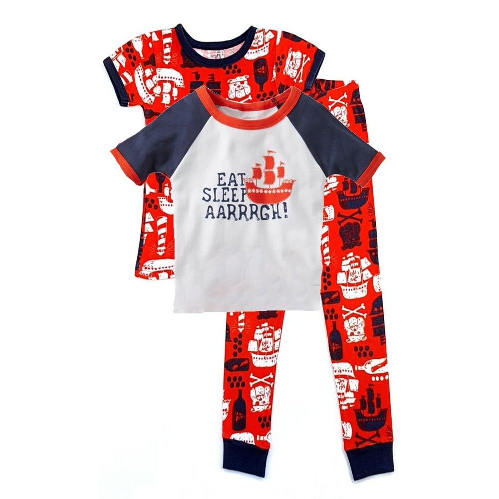 Carters - Boys 3 piece Cotton Pjs - Pirate Ship