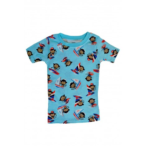 Carters - Boys 3 piece Cotton Pjs - Sailing Monkey