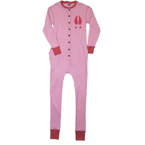 Girls - Pink Moose Caboose Onesie Cotton Pj's