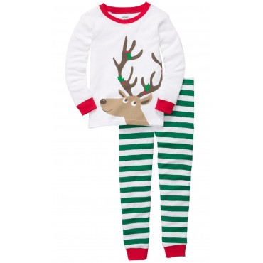 Carter's - Girls 2 piece Cotton Pyjamas - Reindeer