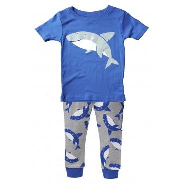 Carters - Boys Cotton Shark Pattern 3 piece Pjs