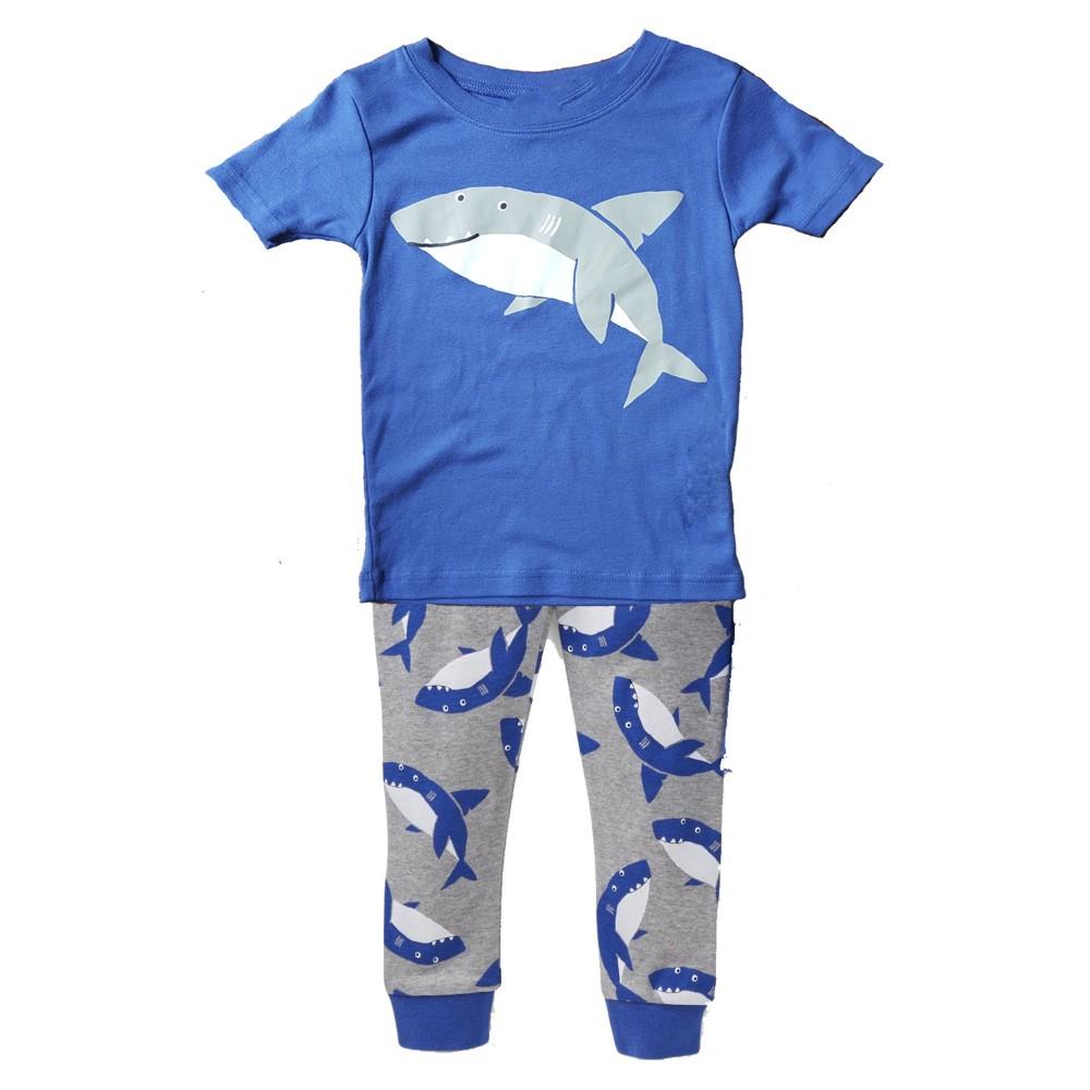 Carters - Boys Cotton Shark Pattern 3 piece Pjs