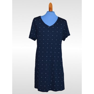 Womens - Nautica Navy Anchor Nightshirt - Plus Size