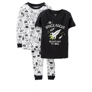 Carters - Boys Cotton Glow in the Dark 3 Piece Pjs