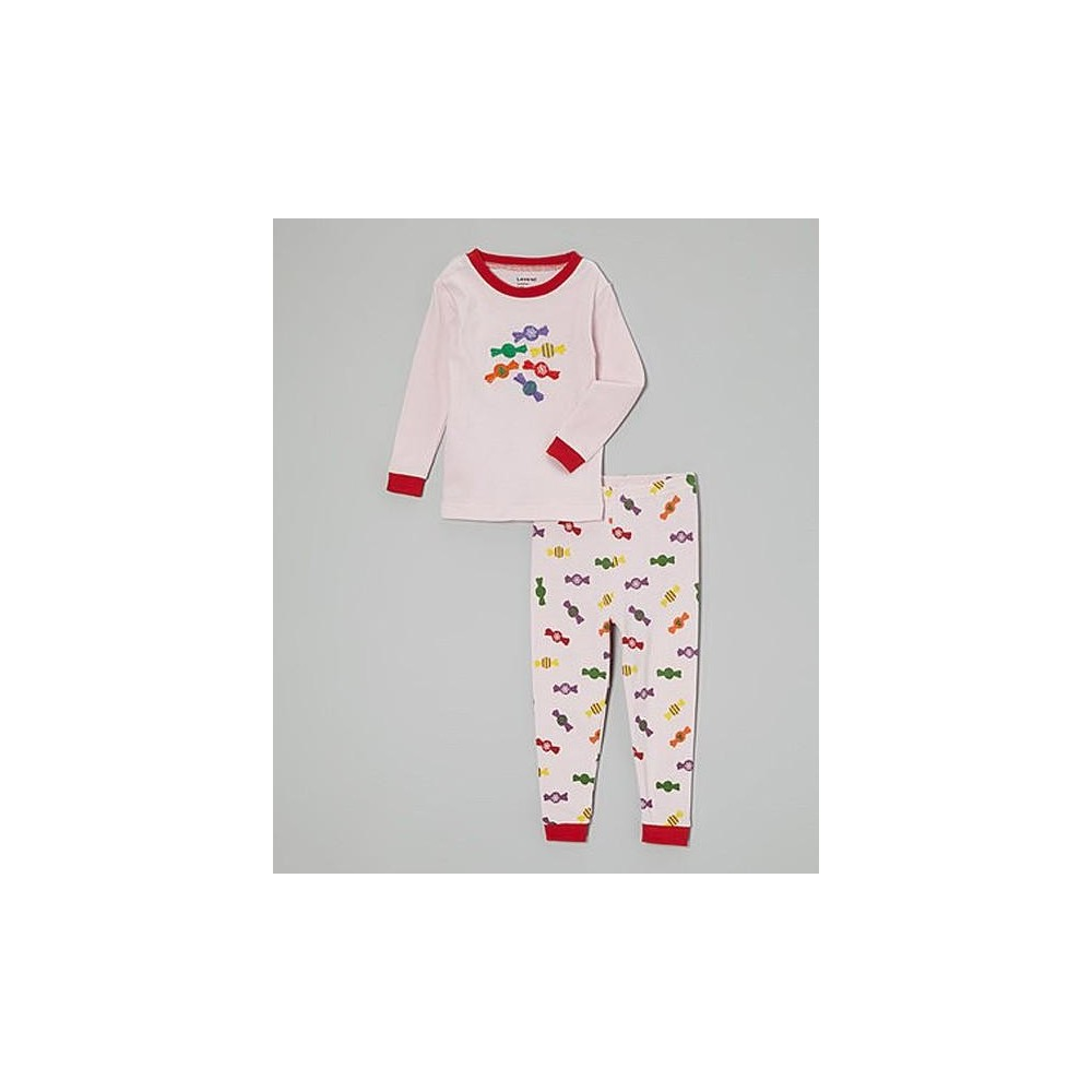 Leveret - Girls 2 piece Cotton Pyjamas - Pink Candy