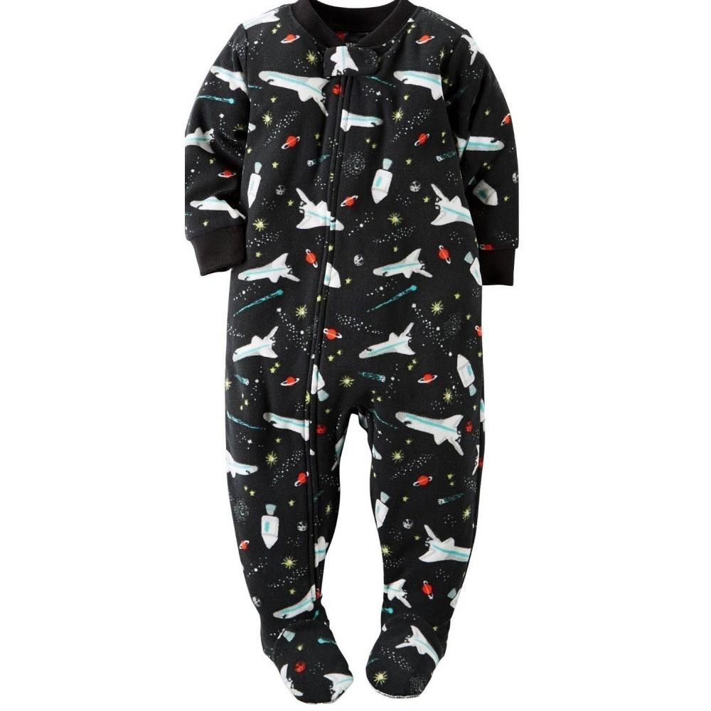 Carters - Boys Rocketship Microfleece Onesie Pyjamas