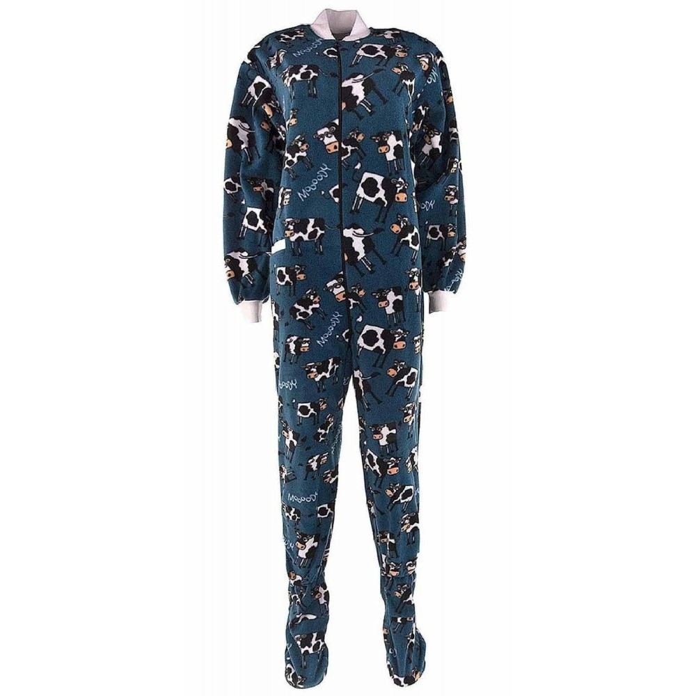Childrens - Moody in the Morning Fleece Onesie with Dropseat