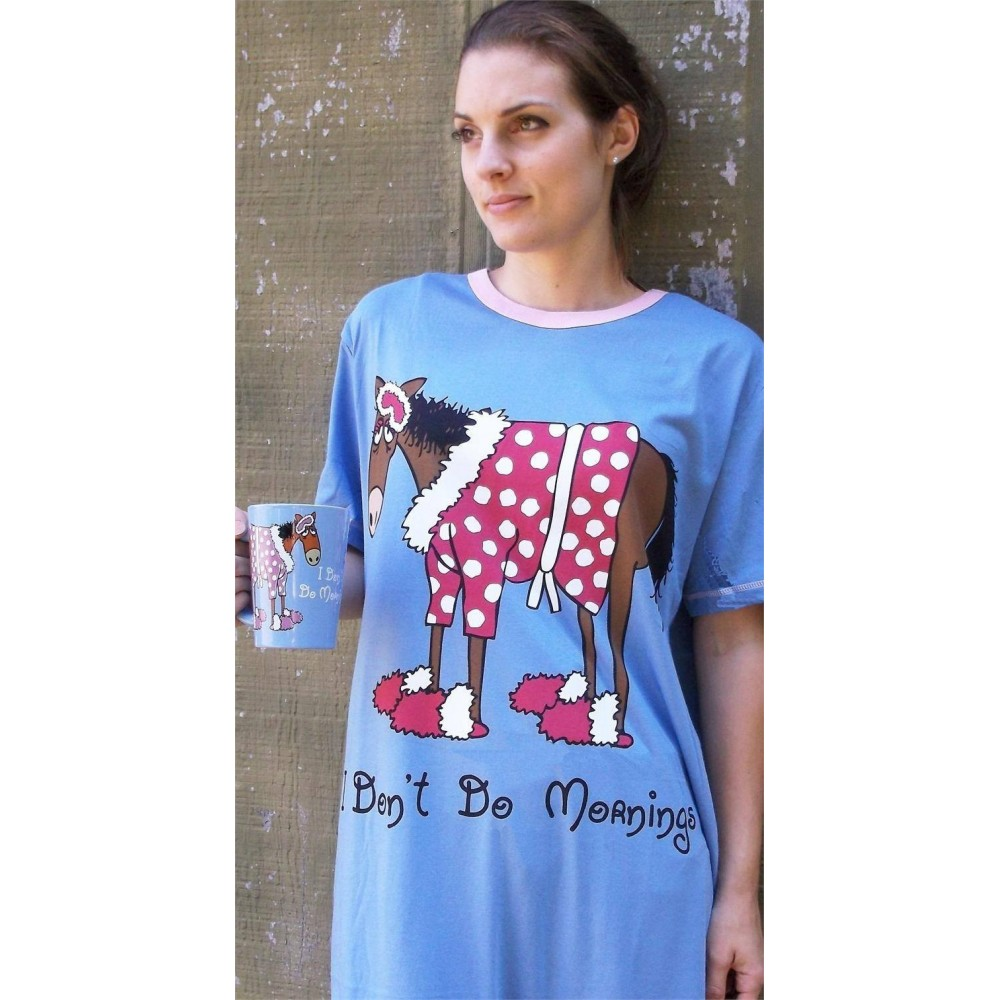 Womens - Don't Do Mornings Nightshirt 100% Cotton - Plus