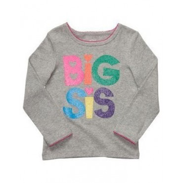 Carter's - Grey Big Sis T Shirt with Long Sleeves