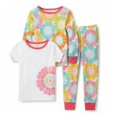 Carter's - Girls 3 piece Cotton Pyjamas - Flower