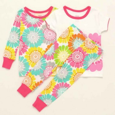 Carter's - Girls 3 piece Cotton Pyjamas - Flower