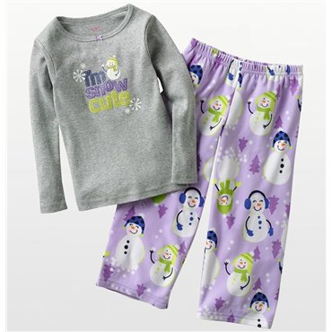 Carter's - Girls I'm snow cute Pyjamas Fleece Pyjama Set