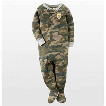 Carters - Boys Camoflague Microfleece Onesie Pyjamas