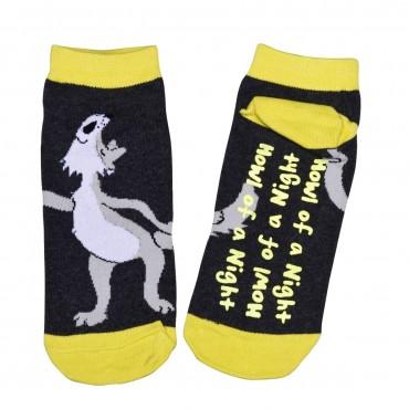 Womens - Slipper Socks  - Howl of a Night