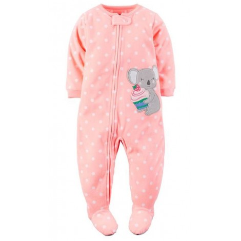 Carters - Girls Spotted Koala Microfleece One Piece Pyjamas